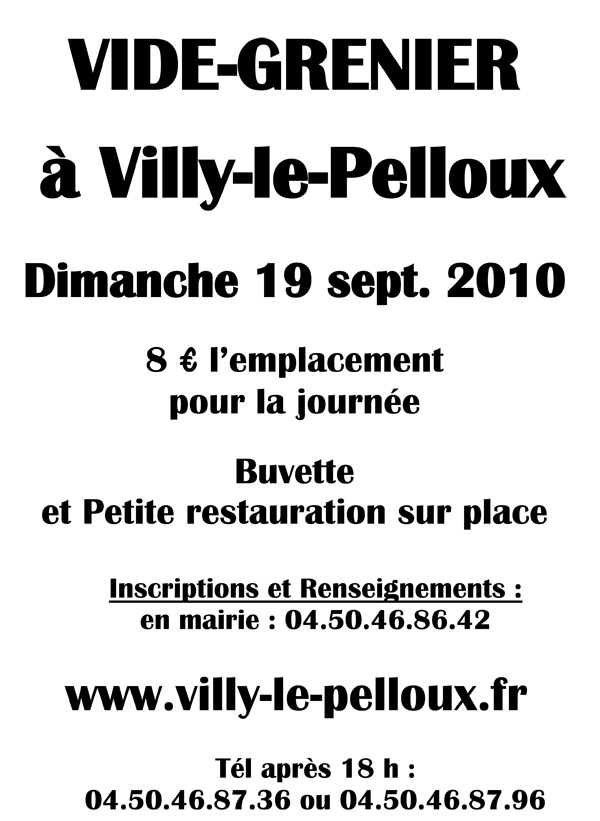 vide grenier villy le pelloux haute savoie. Black Bedroom Furniture Sets. Home Design Ideas