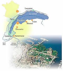 Jardin des 5 Sens,Yvoire,Labyrinthe et chateau d Yvoire,haute-savoie